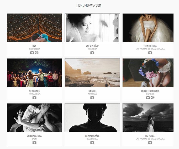 Sextos en el top 10 de mejores fotógrafos de boda del 2014