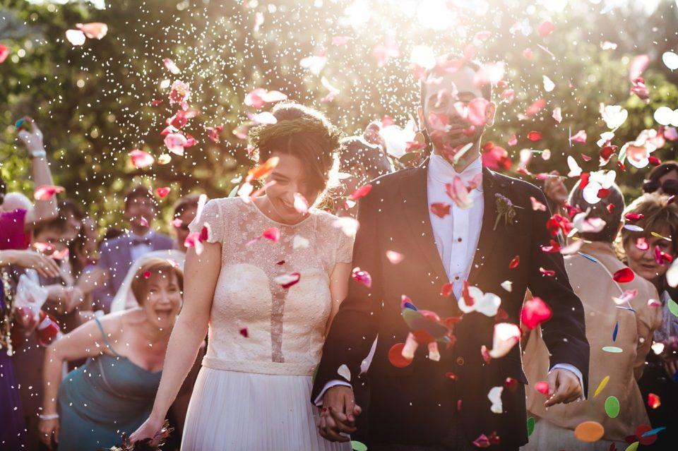 recién casados boda en LAvellana
