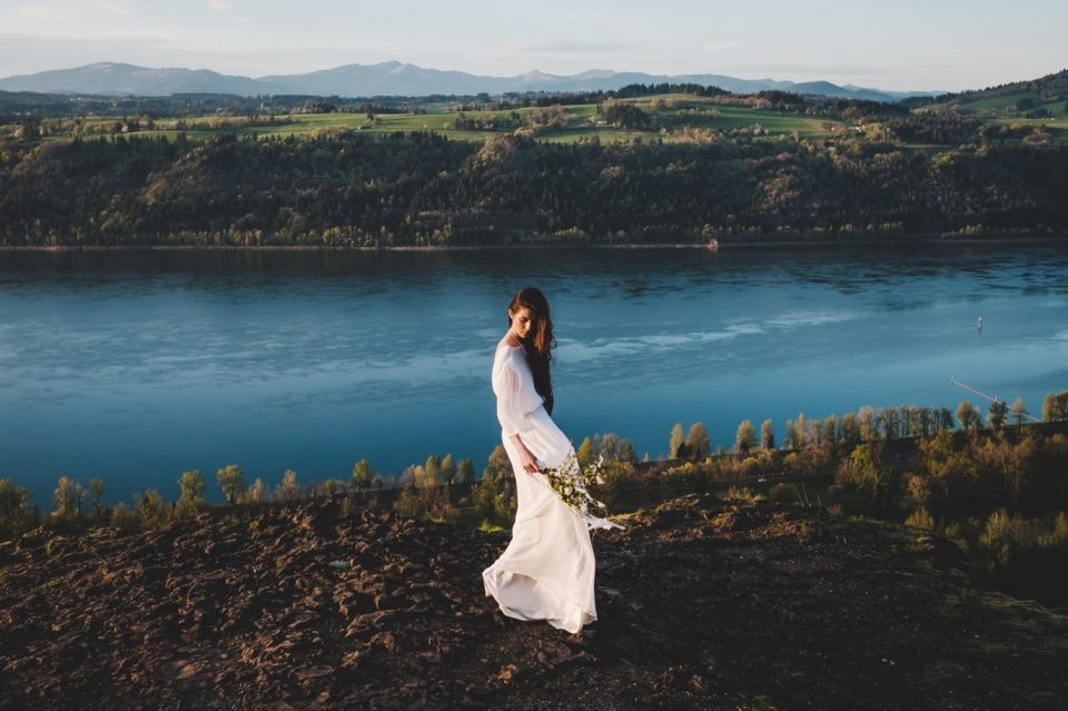 editorial wedding dress