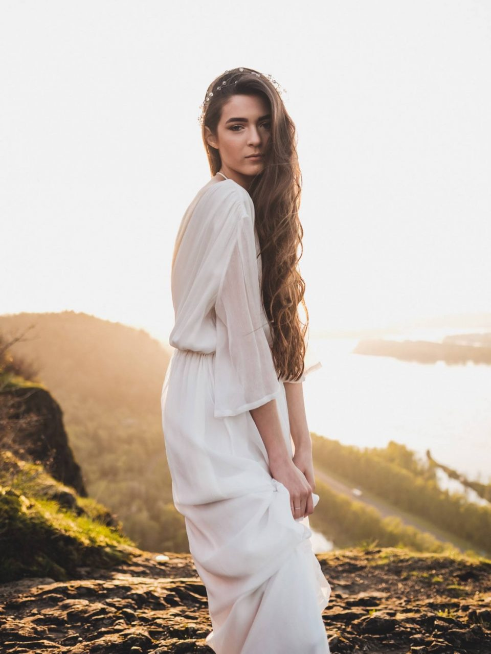 bride in Editorial at Vista Point