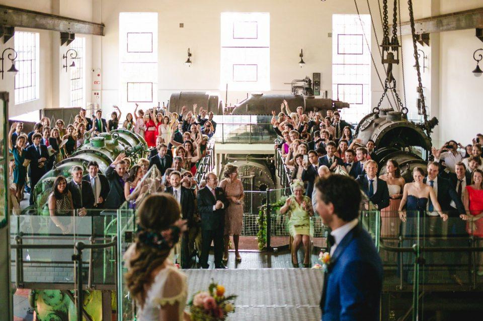 ceremonia civil en El Museo Nacional de la Energía de Ponferrada