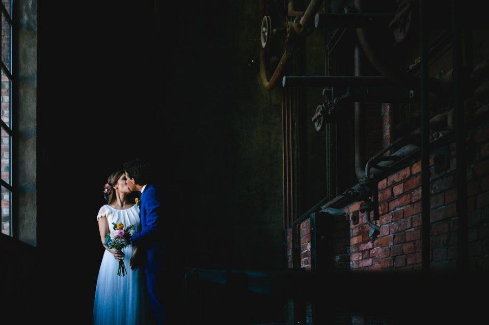 fotos de boda en el El Museo Nacional de la Energía de Ponferrada