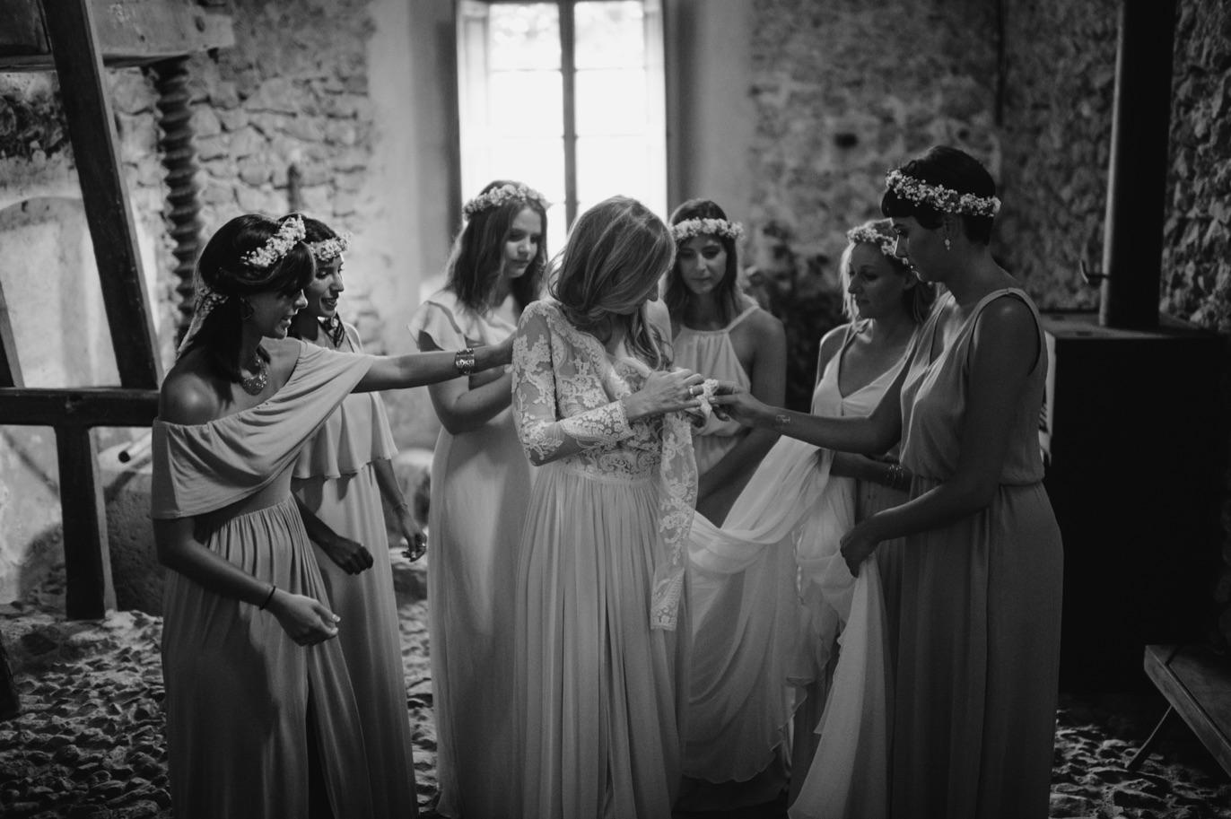 bride preparations in mallorca