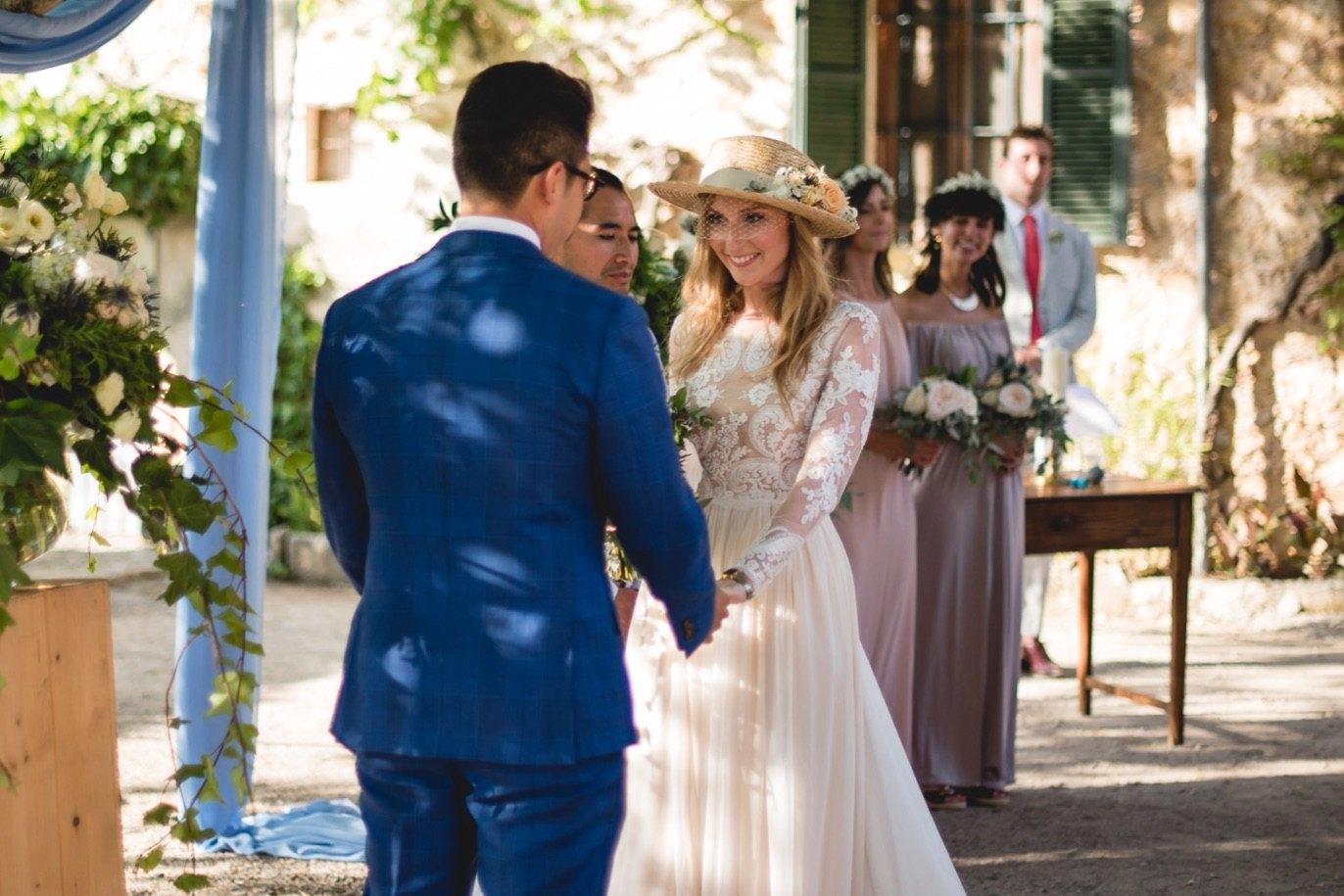 romantic ceremony in mallorca