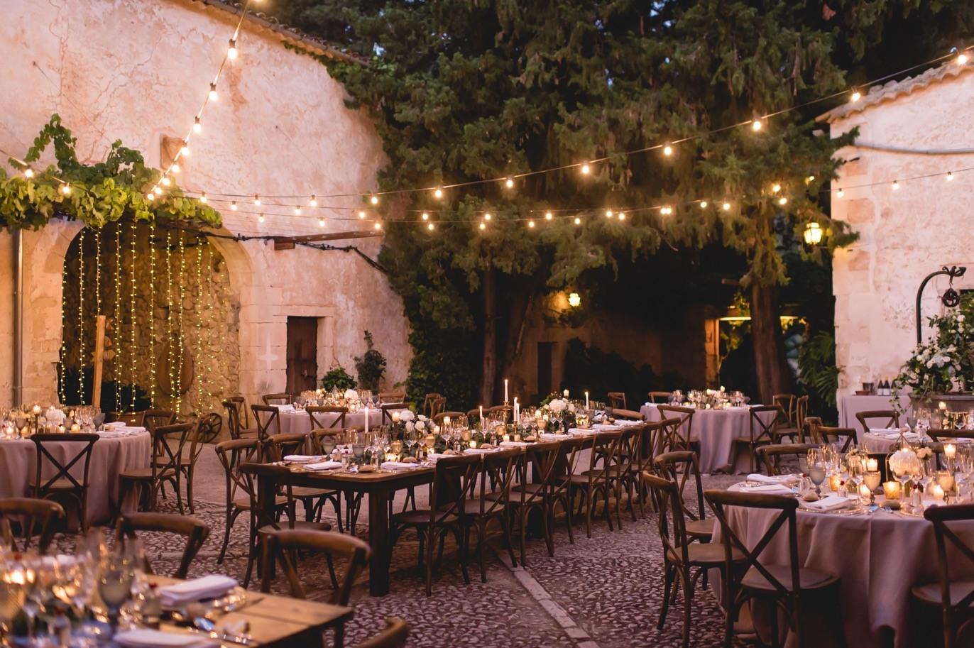 decoración banquete de bodas
