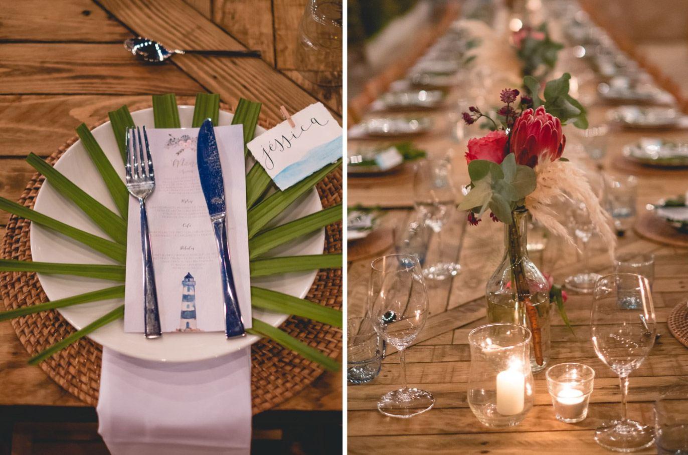 detalles banquete de bodas