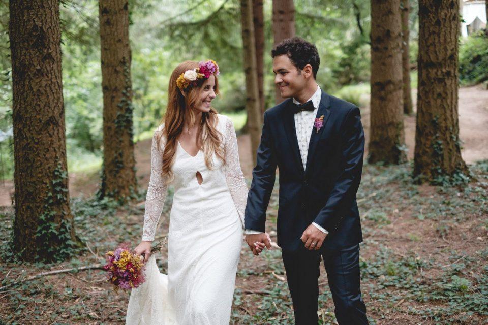 boda en un bosque en Barcelona
