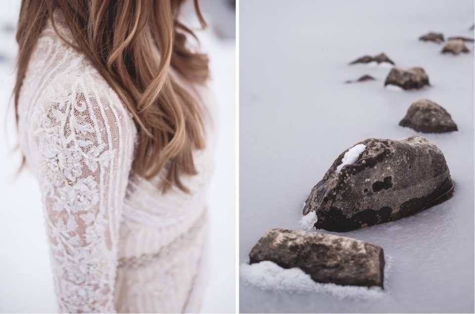 dress and snow details